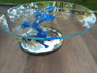 ALESSI CAKE DESERT STAND SMALL BLUE MAN HOLDING THE GLASS PLATE MADE IN ITALY