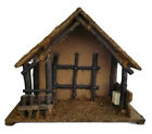 Christmas Vintage Nativity Manger Stable Creche Italy Music Box Silent Night