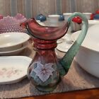 Fenton Mulberry Pitcher Ewer Numbered Hand Painted by Tammy Gaskins