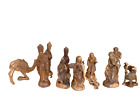 Hand Carved Olive Wood Nativity Set 16 Pieces