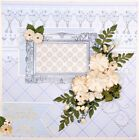 Handmade LITTLE ONE Baby Boy Blue  Yellow 12x12 Premade Scrapbook Layout Page