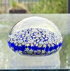 Vintage Large Size Millefiori Murano Glass Paperweight Signed by ALT MURANO