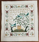 With Thy Needle Finished Completed Cross Stitch SamplerBirds of a Feather