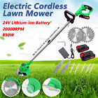 850W Cordless Lawn Weed Cutter Grass Trimmer Portable Electric Mower Pruning 24V