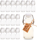 Mini Swing Top Glass Bottles Wedding Party Favors Dcor 2 oz 15 clear