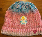 Disney Inspired Cinderella Vintage Patch On Multi Color Beanie With Pink Mickey