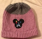Disney Inspired Up Beanie with Mickey Mouse Disney Castle with Balloons