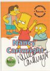 THE SIMPSONS 10TH ANNIVERSARY - A4 NANCY CARTWRIGHT (VOICE OF BART) AUTOGRAPH