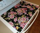 Stove Top Cover Protector for Glass Ceramic Stove Quilted Canvas Fabric Flowers
