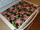 Stove Top Cover Protector for Glass Ceramic Stove Quilted Color Exotic Flowers