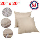 10Pcs 20 x 20 Sublimation Blank Linen Pillow Case Throw Cushion Cover Zip Gift