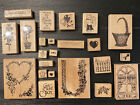 HUGE Lot 54 Wood Mounted Rubber Stamps Of America Stamptastic Stampendous Oasis