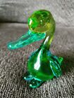 Vintage Turquoise Blue And Green Murano Art Glass Duck