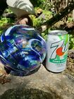 LARGE PYROMANIA ART GLASS OREGON FLOAT BALL 2002 SIGNED WITH LABELS 55 RARE