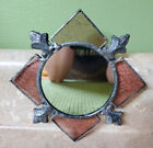 Richard MacDonald Stained Glass Hanging Wall Mirror Small Boothbay Harbor Maine