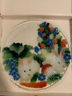 Peggy Karr 14 Inch Rabbits Platter With Box Retired
