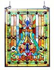 Victorian Hanging Stained Glass Tiffany Style Window Panel Home Decor