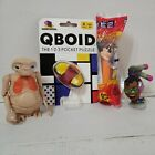 Toys & Game Lot; QBOID Puzzle & PEZ (both New), ET & Overwatch Ultimates Figures