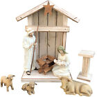 MANTLE STABLE WOOD CRECHE Reclaimed Fits Willow Tree Angel Nativity Manger