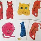 ANDY WARHOL SAM THE CAT BLANK GREETING CARDS SET OF 7