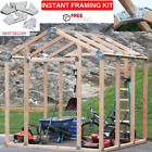 Instant Framing Kit With 24 Steel Angles 12 Steel Base Plates  Plans To 3 Sizes