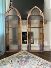 Large Victorian Stained Glass Arch Window Church Panel