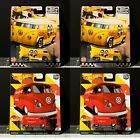 Lot of 4 Hot Wheels Boulevard Volkswagen Drag Bus and T1 Panel Bus