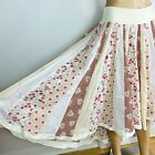 NEW Free People Floral Patchwork Skirt Sz 4 Mixed Print Cotton Eyelet 118