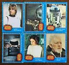 STAR WARS 1977 Topps Trading Cards Blue Series #1 to 35