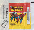 TOPPS 1974-75 COMIC BOOK HEROES STICKERS - FULL SET WITH WRAPPER!