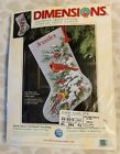 Dimensions 8738 Early Snow Cardinals Stocking Counted Cross Stitch KitNEW HTF