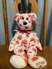 Ty Beanie Baby Snowbelles The White Bear Red Snowflakes Hallmark Exclusive Mint