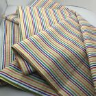 Cotton Seersucker Fabric Lengthwise Pin Stripes Red Yellow Blue Green 70 x 45