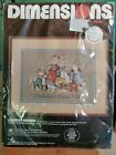 1988 Dimensions Cross Stitch Kit 3653 Country Bunnies Friends Forever New