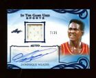 2019 Leaf DOMINIQUE WILKINS Auto Autograph Game-Used Jersey Relic 35 Hawks