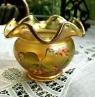 FENTON HANDCRAFTED GLASS 375H BOWL AUTUMN GOLD