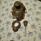 Gold Colored Frog Desk Set with Letter Opener and Magnifying Glass