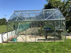 large greenhouse used 12.5x8 ft With Metal Base