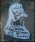 Glass Etching By Hand DALE EARNHARDT The Intimidator NASCAR 3 Original Art