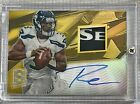2013 Panini Spectra Russell Wilson Gold Patch Logo Auto Autograph 1 5 WOW!!!