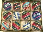 SOLD 12 Premier and Corning Glass Works UNSILVERED  PAINTED Xmas Ornaments WWII