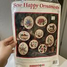 dimensions sew happy ornaments crewel embroidery kit