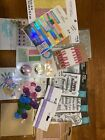lot of 21 crafting supplies stamps stickers and Gel Pens