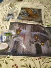 beaded cross stitch embroidery lot of 2