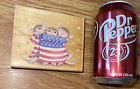 Rare House Mouse PATRIOTIC WRAP Maxwell MUDPIE rubber stamp Preowned