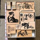 Asian Rubber Stamps Embossing Arts Hero Arts dragons Hanfu trees words