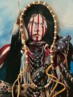 Native American Horn Necklace Horn Hairpipes Rare Turquoise SS Bench Beads