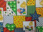 Vintage BETSEY ROSS Patchwork Calico Cotton Fabric Cheater Quilt 1 yard 35 x 43
