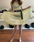1950s Sheer Organza yellow day dress Vintage outer shell no lining