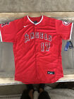 Shohei Ohtani New Jersey Red Los Angeles Angels Mens Large